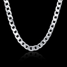 "silver 925 10mm 20"" 50cm Men Figaro chain necklace for men silver 925 jewelry large necklace Colar de Prata male gift(China)"