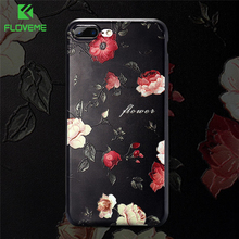 FLOVEME 3D Flower Case For iPhone 6 6s Relief Rose Soft Silicon Phone Cases For iPhone 7 5s 5 8 8 Plus Cute Floral Cover Capinha(China)