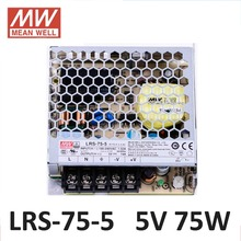MEANWELL LRS-75-5 DC 5V switching power supply 85-264VAC input 72W 5V 14A Meanwell power supply driver For LED Strip UL CE CB
