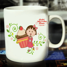 New Chi-bi Maruko Ceramic Coffee Mug White Color Or Color Changed Cup Strawberry Cake---Loveful