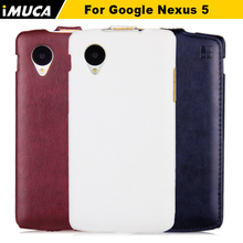Nexus 5 Case Durable Leather Cover for LG Google Nexus 5 E980 D820 D821 Flip Case cover with retail package phone accessories(China)