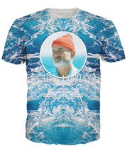 3D women men tee t shirts Chill out with Bill Murray in this Chill Murray T-Shirt The Life Aquatic with Steve Zissou summer tees