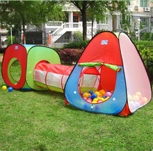 Children Play Tent House Set Discovery Kids Adventure Play Tent Indoor Outdoor Game Tent With Tunnel Discovery Kids Toy Set ZP45(China)