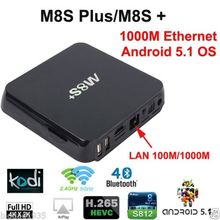2G/8G Google Android TV Box M8S Plus Amlogic S812 Preinstall Kodi 16.1 Smart Tv Box Android 5.1 Quad Core 4K M8S+ Plus Tv Box