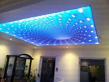 HD-008 Colorful Diamond 3D Printing Stretch Film with backlit for home decoration similar as ceiling panel