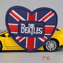 Fashion kids 10PC brand heart beatles embroidered accessories New arrival popular clothing cartoon Patches Appliques(China)