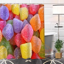 Best Nice Custom Candy Pattern Shower Curtain Bath Waterproof Fabric For Bathroom MORE SIZE WJY
