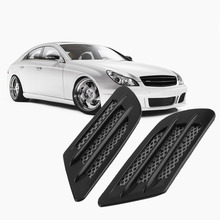 2017 High Quality 2 pieces Car Side Air Flow Vent for Fender Hole Cover Intake Grille Duct Decoration ABS Plastic Sticker