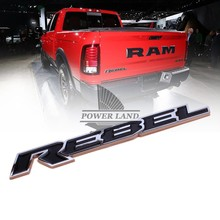 Car Styling Refitting Car Motorcycle Tailgate Nameplate ABS Rebel Decal Sticker Badge Emblem Universal for Dodge Ram 1500
