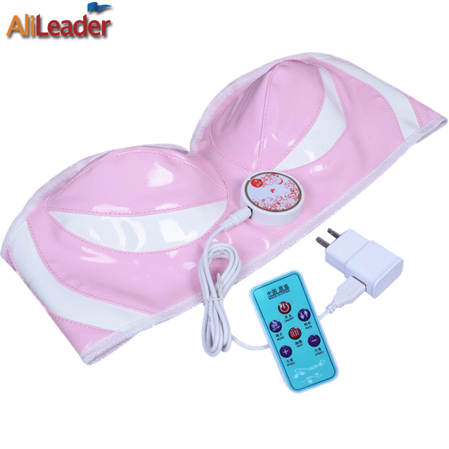 Alileader Breast Enhancement Machine Vibrating Electric Body Massager Usb/Plug Double Electric Breast Enhance Apparatus Pink<br>