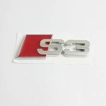 Case for Audi S3 Logo Trunk Badge Emblem S3 A3 RS3 RS4 RS S-Line Sport Quattro(China)