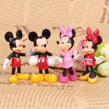 4pcs/lot MICKEY & Minnie Mouse Cartoon figure toys, Children toys for kids