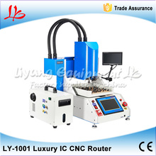 LY 1001 Automatic iphone IC CNC Router Machine, CNC Drilling Machine With 8 in 1 Mould for iPhone Repairing