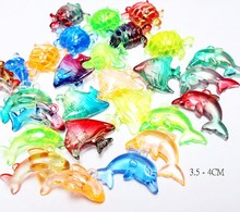10pc Ocean Creature Bead Charms Fashion Girl Kids Jewelery Chip Necklace Vintage Cup Cake Topper Decoration DIY Home Craft