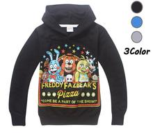 2017 Boys Outwear Hoodies Five Nights at Freddys FNaF Childrens Sweatshirts For Boys Kids Coat Cartoon Tops Costume
