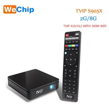 Mini TVIP 410 412 Box Amlogic Quad Core 4GB Android 4.4/Linux Dual OS Smart TV Box Support H.265 Airplay DLNA Mag 250(China)