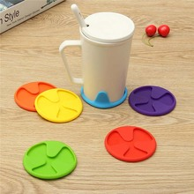 1 Piece Silicone Cup Mug Bar Drink Pads Dining Table Placemat Coaster Kitchen Accessories Decor 5 Colors