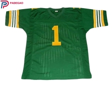 Embroidered Logo Retro star #1 Warren Moon green American FOOTBALL JERSEY for fans gift cheap(China)