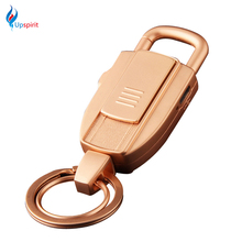 New Multifunction Keychain Electronic Lighter USB Rechargeable Lighter Metal USB Lighters Portable Gadgets For BBQ Kitchen Home