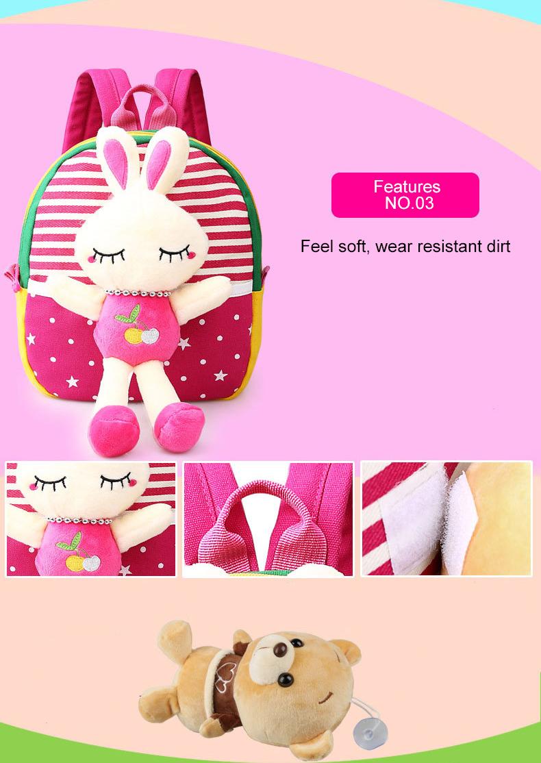 Korean Style Children Toddler Cartoon Stuffed Plush Backpacks baby girls boys cute toys schoolbag backpack (8)