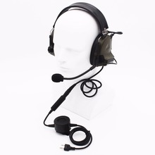 XQF Z Tactical H50 Shoot Hunt Game Earpiece Waterproof Big PTT Headset For ICOM Radio IC-V85 IC-F10 Yaesu FT-10 Walkie Talkie
