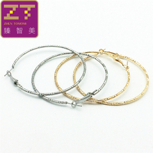 Big Earrings New Trendy Silver Color/ Gold Color Fashion Jewelry Wholesale Round Large Size Hoop Earrings for Women jewelry