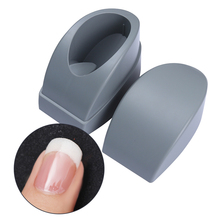 1 Pc Plastic French Dip Nail Container Grey Smile Line Maker Nail Tips Mold Guides Nail Art Manicure Tool for French Nail(China)