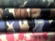 2017 1 Yardx140cm Pu Clothing DIY Clothing Leatherette Free Washable Series Pants Camouflage Leather(China)