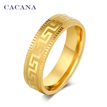 CACANA Stainless Steel Rings For Women  Surround Pattern Fashion Jewelry Wholesale NO.R49