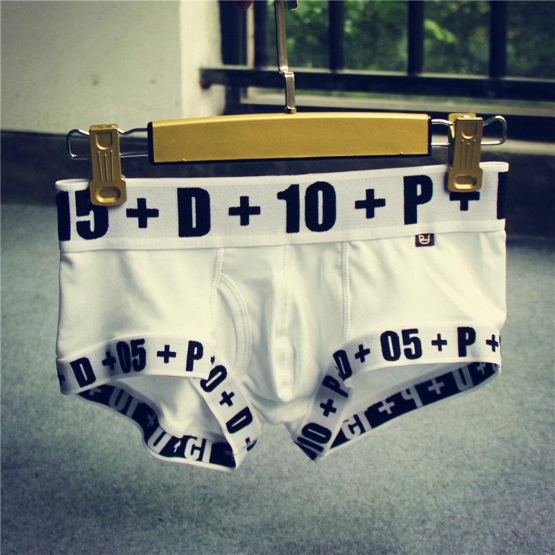 2 PCS 100% Cotton Young Guy Underwear Letter & number Printed Men Shorts Soft Tight Men Boxer 6 Colors Absorption Gay Underpants