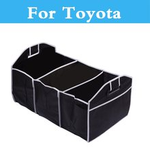 Folding Car Storage Box Collapsible Container Bags Organizer For Toyota Prado Hilux Surf iQ Ist Kluger Land Cruiser Land Cruiser(China)