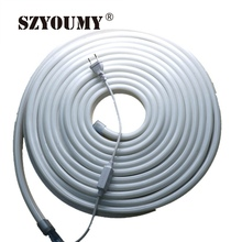 SZYOUMY 50 Meters 110V High Quality  White / Warmwhite / Green / Blue Strip 110V High Lumen Led Neon Flexible Strip Light