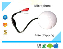 Luckertech Secure Golf Shape audio listening devices CCTV Microphone audio Pickup Device High Sensitivity 12V DC sound Monitor
