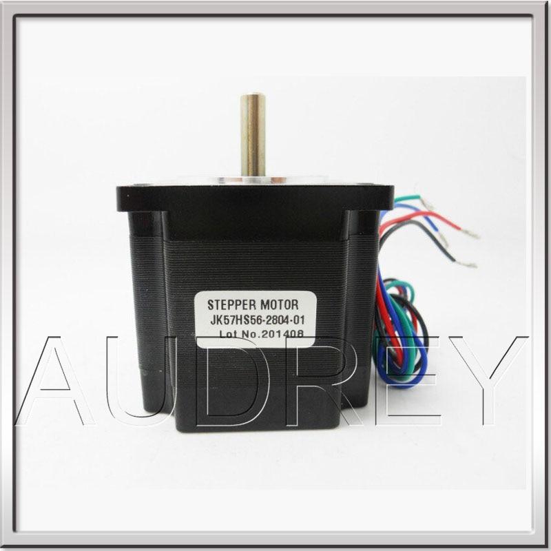 CE ROHS 1.8degree NEMA23 2phase 57mm Hybrid high torque Stepper Motor 57HS56-2804-01 length 56mm 3V 2.8A 4-wire 12Kg.cm<br>