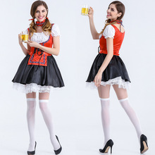 Newest Hot Sexy Halloween Costumes For Women Swiss Girl Patchwork Oktoberfest Costume Deguisement Adultes Cosplay