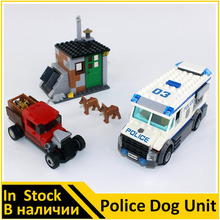 BELA Building Block 10419 Compatible with City Police Dog Unit 60045 Model Policeman Figure Educational Toys For Children