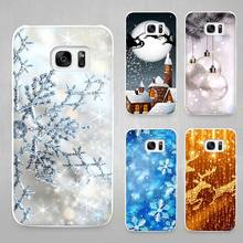 Merry Christmas Hard White Coque Shell Case Cover Phone Cases for Samsung Galaxy S4 S5 S6 S7 Edge Plus