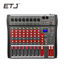 ETJ Brand 8 Channels CT-8 Audio Mixer With USB Input Sound Console DJ Equipment 48V Phantom Power Supply(China)