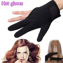 New Hot Barber Hairdressing Three Fingers Glove Heat Resistant Finger Protect Hair Straightening Curling Styling Accessories(China)
