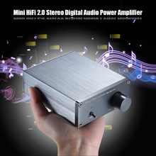 Mini HiFi 2.0 Stereo Digital Audio Power Amplifier Amp Dual Channel Output  50W * 2 Aluminum Alloy with RCA Cable