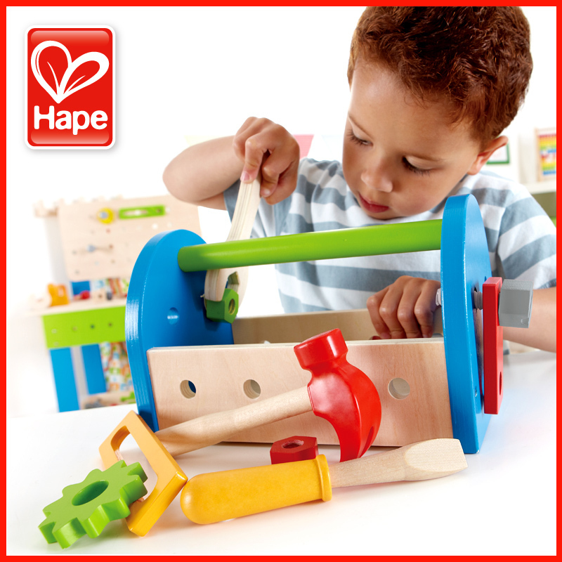 Hape Tool Box Male Child Educational Toys Boy Birthday Gift 2 1 3 Years Old Baby In Model Building Kits From Hobbies On