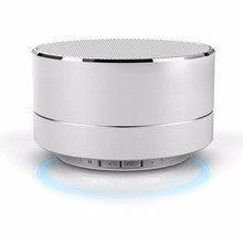 Metal Wireless Bluetooth speaker Read SD TF card Portable speakers Support Calls With Microphone For PC Iphone Sumsang Xiaomi(China)