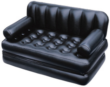 Double folding inflatable sofa lazy sofa multifunctional sofa bed double recliner,black foldable living room couch
