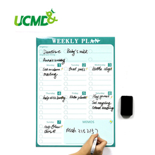Magnetic Calendar Fridge Magnets Dry Erase Board To-Do List Weekly Daily Planner Organizer for Kitchen Fridge(China)