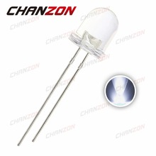 50pcs 8mm White LED Transparent 20mA Ultra Bright Clear Lens Round LED 8 mm Light Emitting Diode Lamp High Power 3V Through Hole