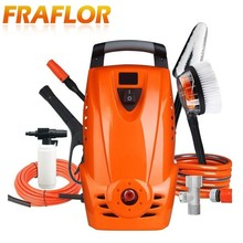 Fraflor 1500W 8Mpa Electric Car Washer Household Car Washing Machine Garden Cleaner With Power Hose Nozzle Foam Spray Gun(China)