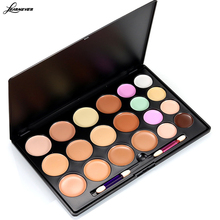 LEARNEVER Brightly Makeup Palette Women 20 Colors Concealer Tone Base Makeup Skin Cover Foundation contour palette with brush(China)