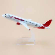16cm Alloy Metal AIR Avianca A320 Airlines Plane Model Airbus 320 N685TA Airways Airplane Model W Stand Aircraft Gift(China)
