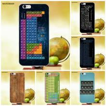 Chemical Chemistry College Periodic Tables Soft TPU Fashion Cell Phone Case For Apple iPhone 4 4S 5 5C SE 6 6S 7 8 Plus X(China)