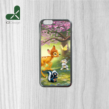 Hot High Quality bambi thumper flower butterfly friends Pattern Durable Phone Case Cover for iphone 6 6s 6 6S Plus 4S 5S 5C